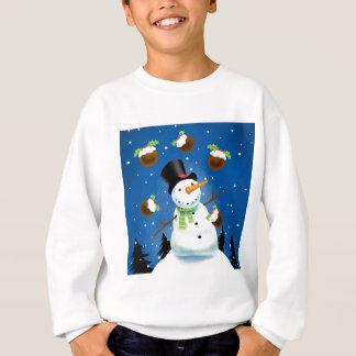 Jonglierender Schneemann Sweatshirt