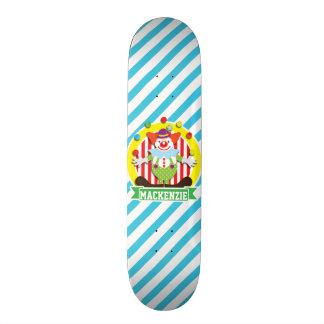 Jonglierender Zirkuszelt-Zirkusclown; Blaue 20,1 Cm Skateboard Deck