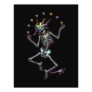 Jonglierendes Spaßvogel-Skelett 21,6 X 27,9 Cm Flyer
