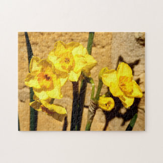 Jonquil Blumen-Foto-Puzzlespiel Puzzle