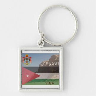 Jordanien erstklassiges quadratisches Keychain Schlüsselanhänger