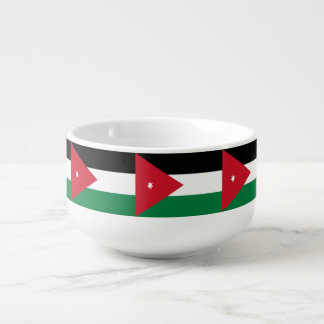 Jordanien-Flagge Große Suppentasse