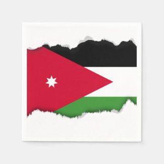 Jordanien-Flagge Papierserviette
