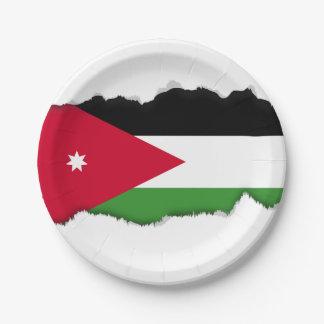Jordanien-Flagge Pappteller