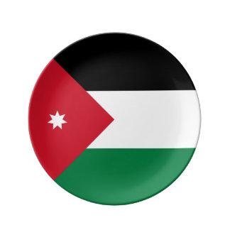 Jordanien-Flagge Porzellanteller