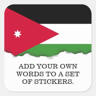 Jordanien-Flagge Quadratischer Aufkleber