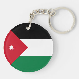 Jordanien-Flagge Schlüsselanhänger