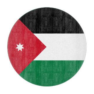 Jordanien-Flagge Schneidebrett