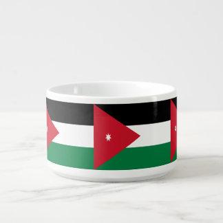Jordanien-Flagge Schüssel