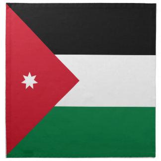 Jordanien-Flagge Stoffserviette