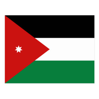 Jordanien-Flaggen-Postkarte Postkarte
