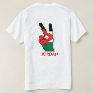 Jordanien-Flaggen-T - Shirt-Friedenszeichen-Shirt T-Shirt