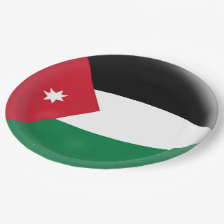 Jordanien-Jordanier-Flagge Pappteller