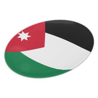 Jordanien-Jordanier-Flagge Teller