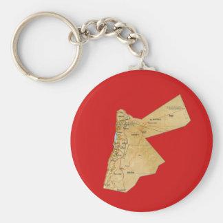 Jordanien-Karte Keychain Schlüsselanhänger