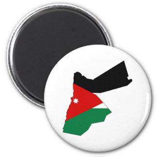 Jordanien-Landflaggen-Kartenform-Silhouette Runder Magnet 5,7 Cm