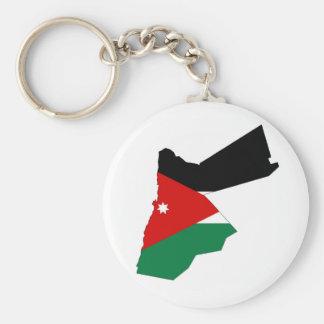 Jordanien-Landflaggen-Kartenform-Silhouette Schlüsselanhänger