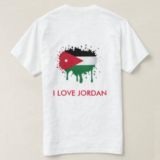 Jordanien malte Flaggen-T - Shirt kundengebundenes