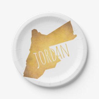 Jordanien Pappteller