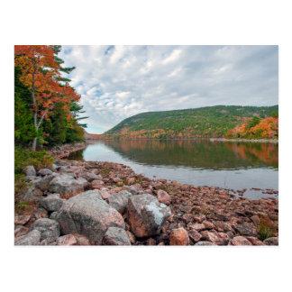 Jordanien-Teich des Acadia-Nationalparks Postkarte