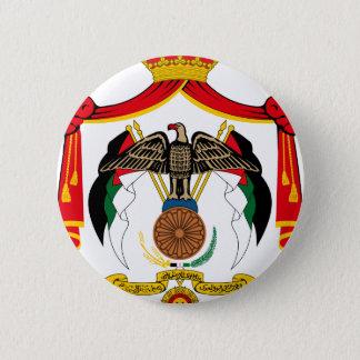 Jordanien-Wappen Runder Button 5,7 Cm