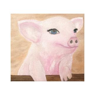 Jos Schwein auf Leinwand