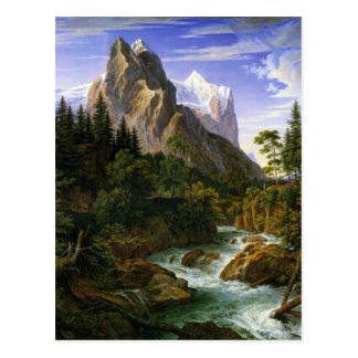 Joseph Anton Koch, Wetterhorn von Der Rosenlaui Postkarte