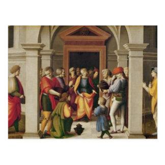 Joseph empfängt seine Brüder, C. 1515 Postkarte