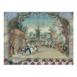 Joseph Haydn an der Premiere seiner Oper Postkarte