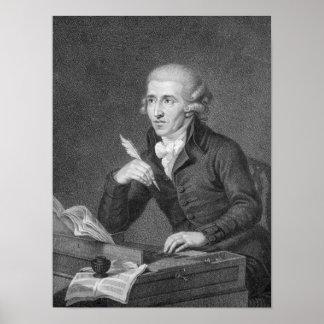 Joseph Haydn gravierte durch Schiavonnetti, 1792 Poster