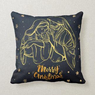 Joseph Jesus, Mary, Merry Christmas and, - Kissen