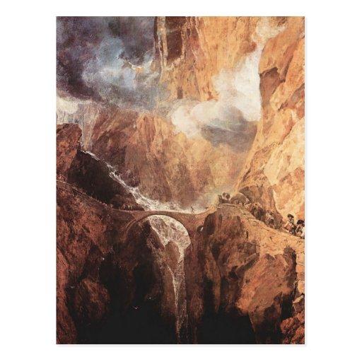Joseph Mallord Turner - das Teufel-Brücken-St. Postkarten