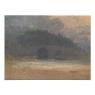 Joseph Mallord William Turner - Abends-Landschaft Fotodruck