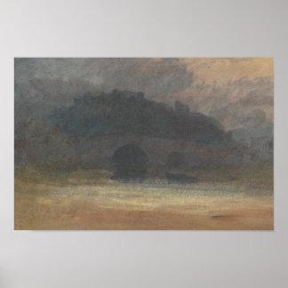 Joseph Mallord William Turner - Abends-Landschaft Poster