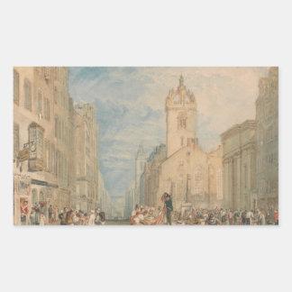 Joseph Mallord William Turner - Hautpstraße Rechteckiger Aufkleber
