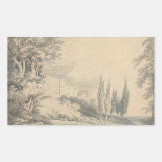 Joseph Mallord William Turner - Landhaus d'Este Rechteckiger Aufkleber