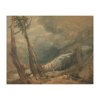 Joseph Mallord William Turner - Mer de Glace Holzdruck
