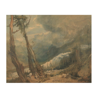 Joseph Mallord William Turner - Mer de Glace Holzleinwand
