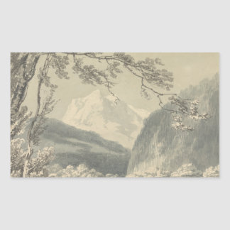 Joseph Mallord William Turner - nahe Grindelwald Rechteckiger Aufkleber