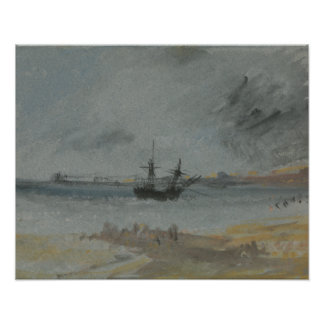 Joseph Mallord William Turner - Schiff gestrandet Poster
