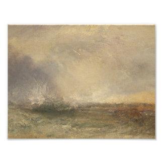 Joseph Mallord William Turner - stürmisches Meer Fotodruck