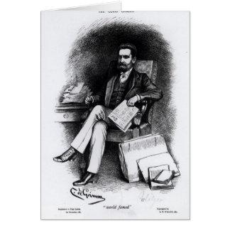 """Joseph Pulitzer """"von der Kuriosität"""", 1887 Karte"""