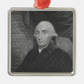 Joseph-Schwarzes 'von der Galerie der Porträts Quadratisches Silberfarbenes Ornament