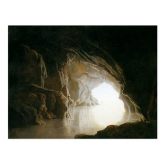 Joseph Wright eine Höhle, Abend Postkarte