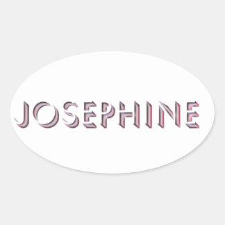 Josephine Aufklebername Ovaler Aufkleber