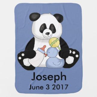 Josephs personalisierter Panda Kinderwagendecke