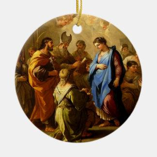 Josephs Versicherungs-Traum u. Heirat zu Mary Weihnachtsbaum Ornament