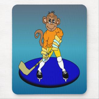 Josh der Eis-Hockey-Affe Mousepads