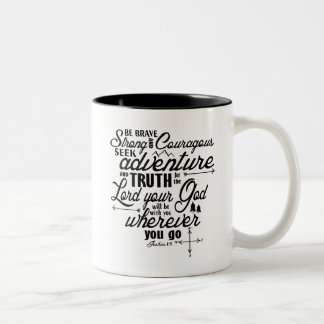 Joshua-1:9 Bibel-Vers-Tasse Zweifarbige Tasse