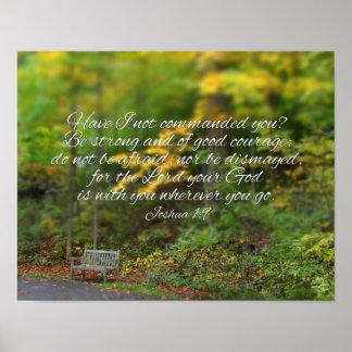 Joshua-1:9 Bibel-Verschristlicher Scripture Poster